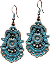 IPOTCH 1 Pair Bohemian Chandelier Flower Dangle Earrings - Gypsy Lightweight Charm Tassel Ethnic Earrings