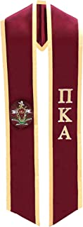 Pi Kappa Alpha PIKE Fraternity Deluxe Embroidered Graduation Stole