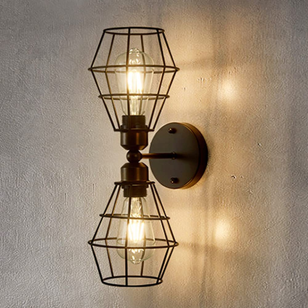 Cage Vanity Wall Light Fixtures Max 53% OFF Metal Farmhouse Popular product for Lamp Ba