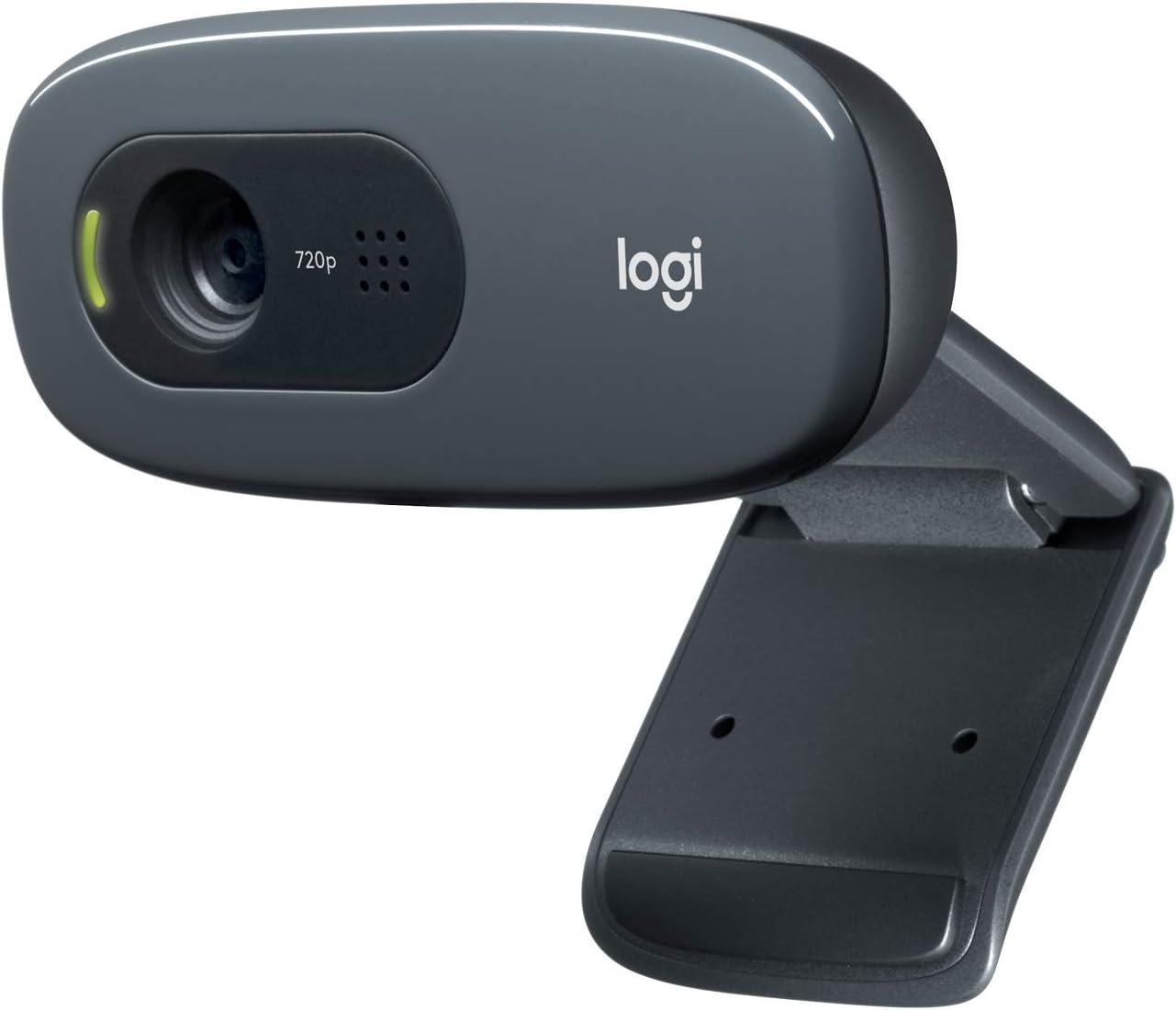 Logitech C270 HD Webcam with HD Light Correction, Noise-Reducing Mic