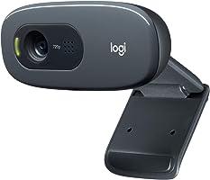Logitech C270 HD Webcam, HD 720p/30fps, Widescreen HD Video Calling, HD Light Correction, Noise-Reducing Mic, for Skype,...