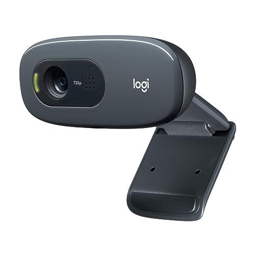 Logitech C270 HD - Webcam para videoconferencias con Pantalla panorámica, con micrófono Reductor de Ruido