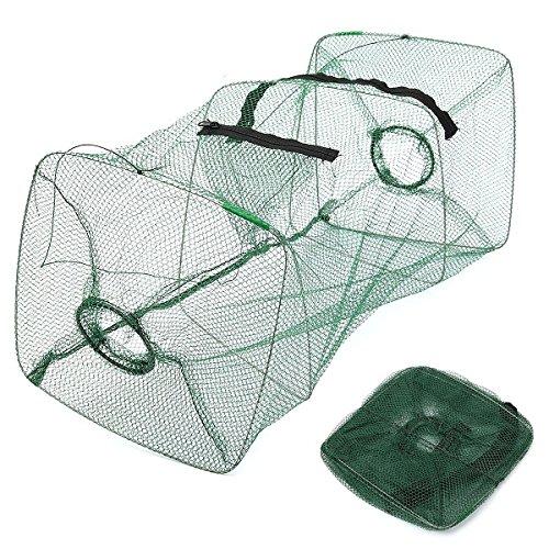 Foldable Fishing Bait Trap Cast Dip Net Cage Crab Fish Minnow Crawdad Shrimp,fishing trap cast net,fishing lure set,fishing tackle by Randall Elliott