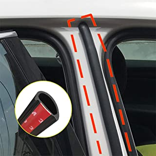 2Pcs 50cm Auto Door Sealant Car Door Rubber Seal Strip Filler Weatherstrip Edge Rubber Sealing B Pillar Protection Front A...