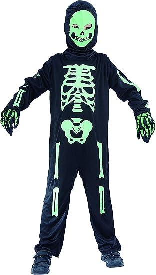 Halloween Kostuem Skelett Amazon.Magicoo Skelett Kostum Kinder Jungen Schwarz Grun Ausgefallenes Halloween Kostum Jungen Gr 92 Bis 152 92 104 Amazon De Spielzeug