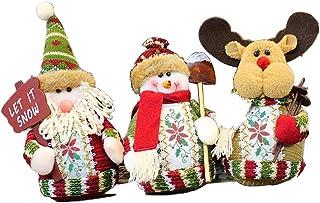 日本市場で強力 クリスマスぬいぐるみスノーマンドワーフクリスマスデスクトップアクセス..