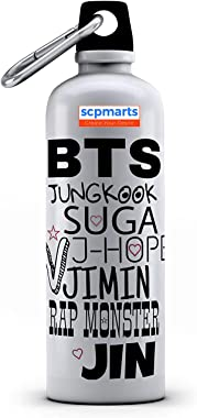 SCPmarts Create Your Desire BTS Bangtan Boys Theme Fan Art Printed Aluminium Sipper Bottle 600 ML by SCPmarts Create Your Des