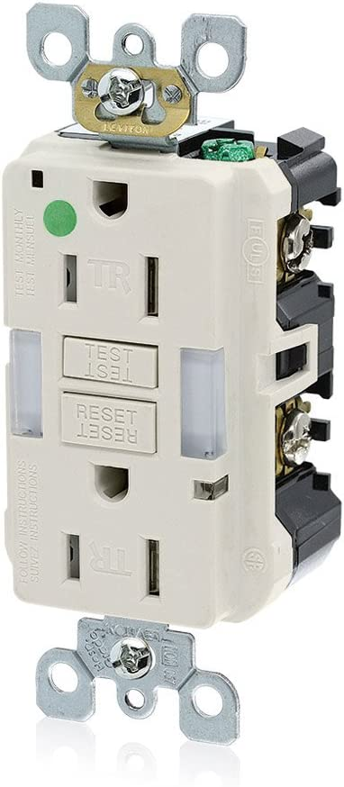 Leviton GFNL1-HGT 15A-125V Max 79% OFF Hospital Tamper-Resistant Year-end annual account Guide Grade