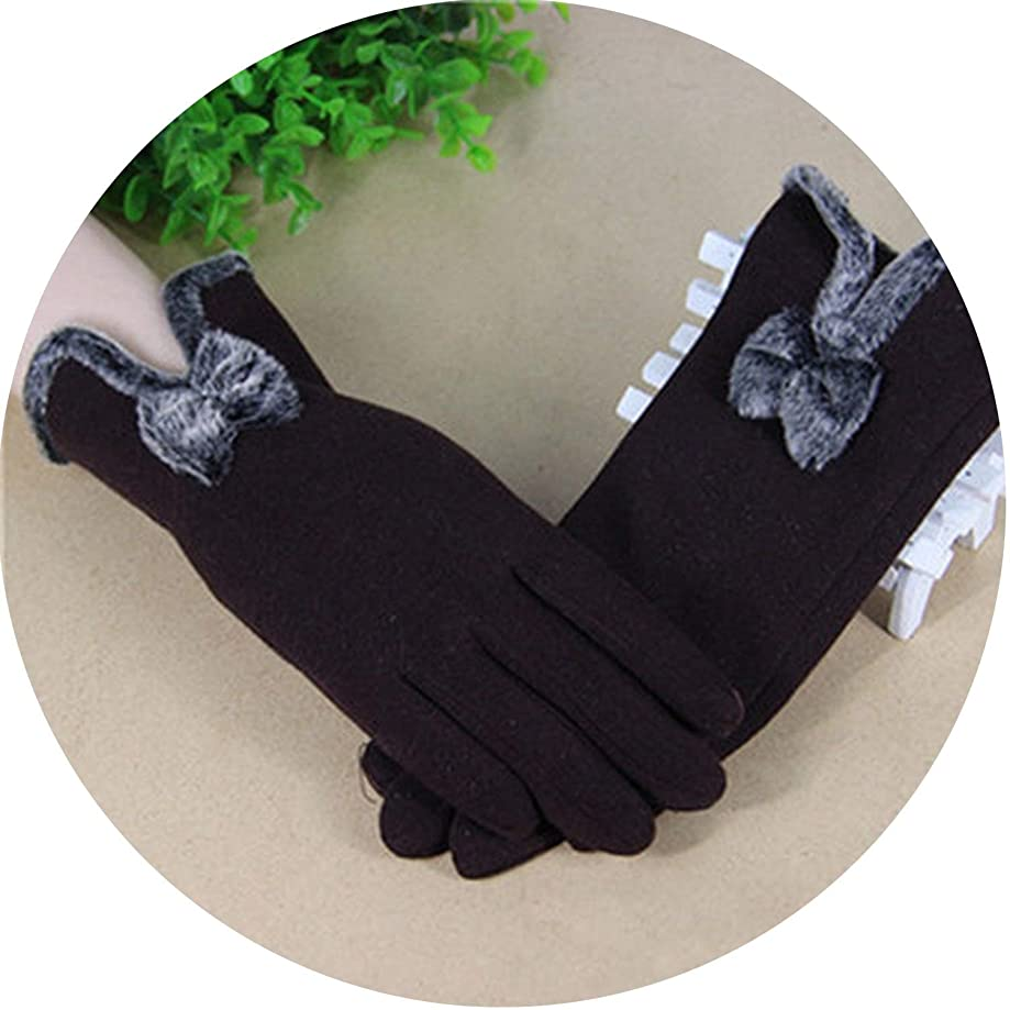 Winter Warm Gloves Solid Lace Cashmere Gloves Wrist Length Fashion Mittens Gloves