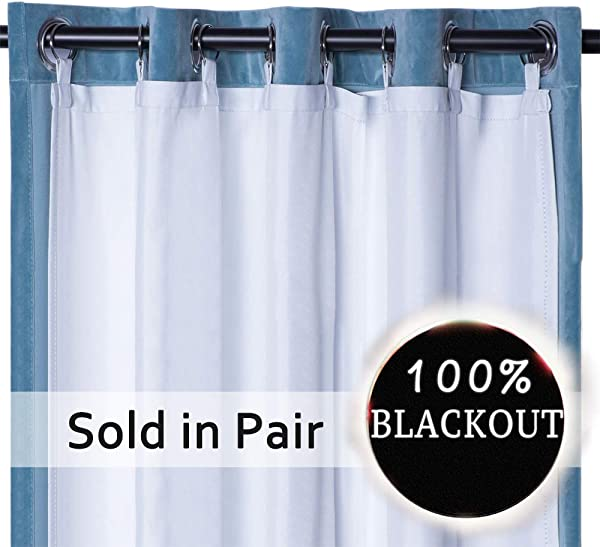 Rose Home Fashion Thermal Insulated Blackout Curtain Liner Panel Ring Included Curtain Liner 100 Darkening Blackout Liner For 84 Inch Curtains 50 X80 2pieces Ring