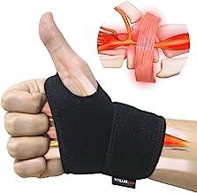 مچ دست برای تونل کارپ، راحت و قابل تنظیم مچ دست پشتیبانی برای آرتروز و تندینیت، بسته بندی فشرده مچ دست با درد، مناسب برای هر دو دست چپ و دست راست - تک
