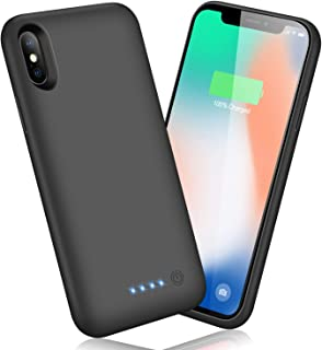 Battery Case for iPhone X/Xs/10 6500mAh, Kilponen Portable Charging Case Rechargeable Extended Battery Pack for iPhone X/Xs(5.8 inch) Protective Backup Cover Charger Case Power Bank
