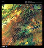 Large Posters Science MAP Satellite Afghanistan Mountain