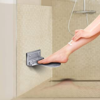 Shower Foot Rest, Heavy Duty Aluminum Alloy Foldable Foot Rest Step for Shaving Legs by WISH