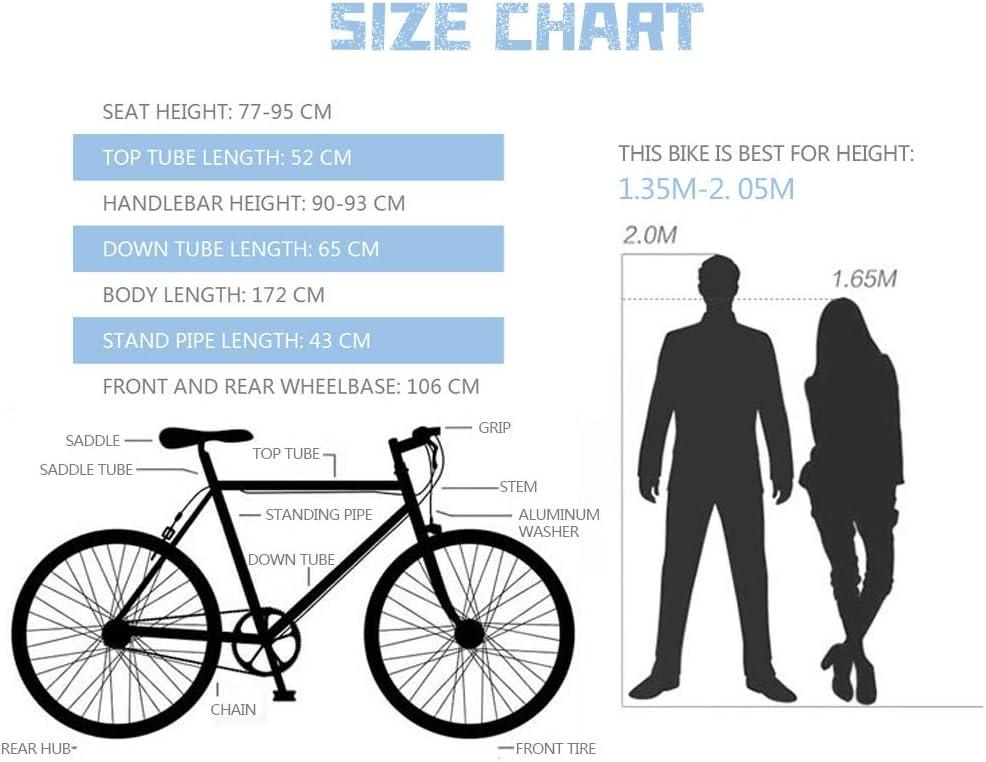 Fiets, Fixie-racefiets voor volwassenen, kan achteruit rijden, dubbele schijfrem, frame van hoog koolstofstaal, velg 40, 26 inch Blue