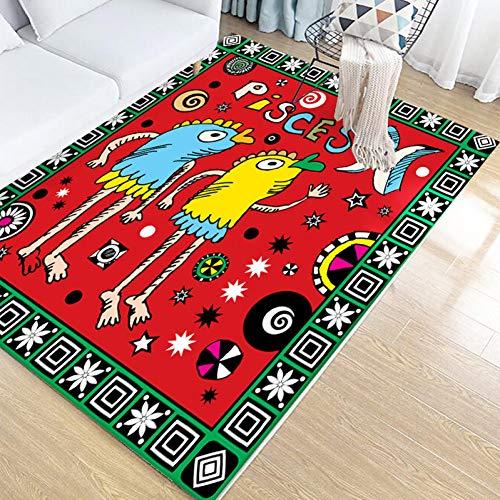 YUANMAKE Tapijt Woonkamer Tapijt Cartoon Home Decoratie Vloer Mat Koffie Tafel Mat Slaapkamer Tapijt 80X140Cm