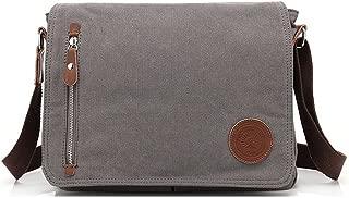 CHAO RAN Men's Shoulder Bag Travel / Work /Shool Casual Canvas Bag Messenger Style Handbags