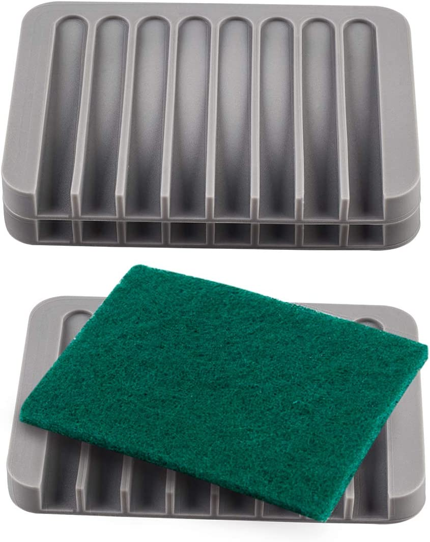 YXChome 3 Pack Silicone Soap Dis free National uniform free shipping Holder Rest Tray
