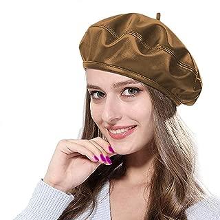 RARITYUS PU Leather French Artist Beret Hat Winter Warm Beanie Headwear Cap for Fashion Women Girls