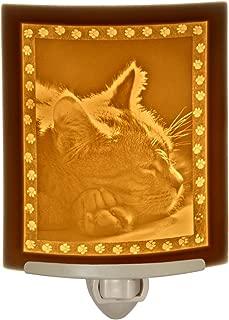 Kitten Dreams Porcelain Lithophane Night Light