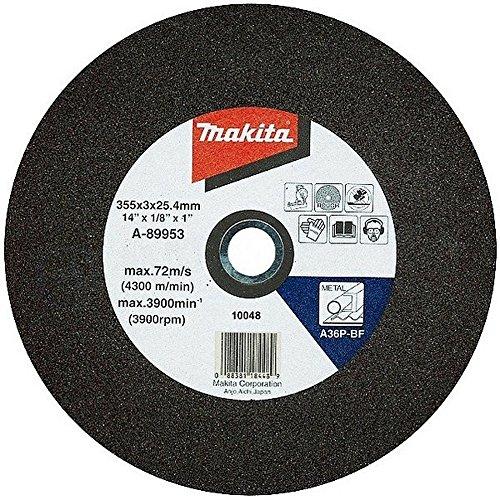 MAKITA B-10665-5 B-10665-5-Pack 5 Discos abrasivos para Corte de Hierro 355x25.4 mm para cortadores 2414b y 2414nb, 0 V, Azul