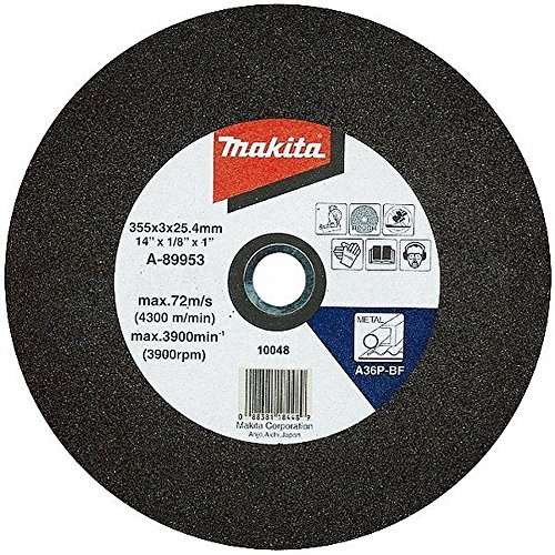 MAKITA B-10665-5 - Pack 5 discos abrasivos para corte de hierro 355x25.4 mm para...