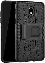 Samsung Galaxy J3 2018/J3 Achieve/J3 Star/Express Prime 3/Amp Prime 3/Sol 3/J3 V 3rd Gen/J3 Orbit Case, Ankoe Heavy Duty Shockproof Protective Case with Kickstand (Black)