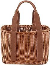 SCDZS Koszyk na zakupy, praktyczny trwały tkany kosz na zakupy kosz do przechowywania do sklepu domowego