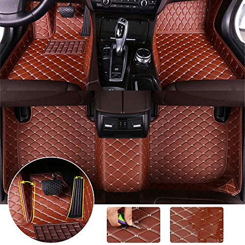 for Jeep Grand Cherokee WK2 2011-2018 Floor Mats Full Protection Car Accessories Brown 3 Piece Set