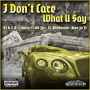 I Don't Care What U Say