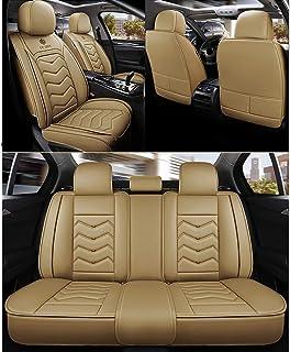 Auto sitzbezüge Universal Autositzbezüge 5 Sitze Full Set Leder Sport Style for BMW F10 F11 F15 F16 F20 F25 F30 F34 E60 E70 E90 Januar 3 4 5 7 Serie GT X1 X3 X4 X5 X6 (Farbe : Beige)