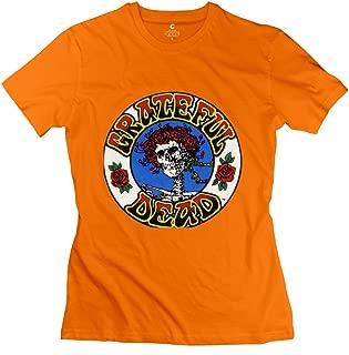 JRZJ Women's Logo Grateful Dead Psychedelic Rock T Shirt
