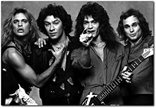 Van Halen Poster 13 x 19 Inches | Ready To Frame For Office, Living Room, Dorm, Kids Room, Bedroom, Studio | Full Sized Black And White Print