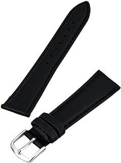 Hadley Roma MS714 20mm Regular Black Genuine Leather Men's Watch Band Strap