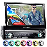 XOMAX XM-VRSUN740BT Autoradio mit GPS Navigation I Bluetooth I 7 Zoll / 18 cm Touchscreen Bildschirm I USB, SD, AUX I Anschlüsse für Subwoofer, Rückfahrkamera und Lenkradfernbedienung I 1...