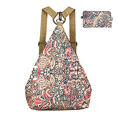 Black Butterfly Original Women's Bohemia National Style Canvas Backpack Shoulder Bag Girls Daypack (small) (a plus)