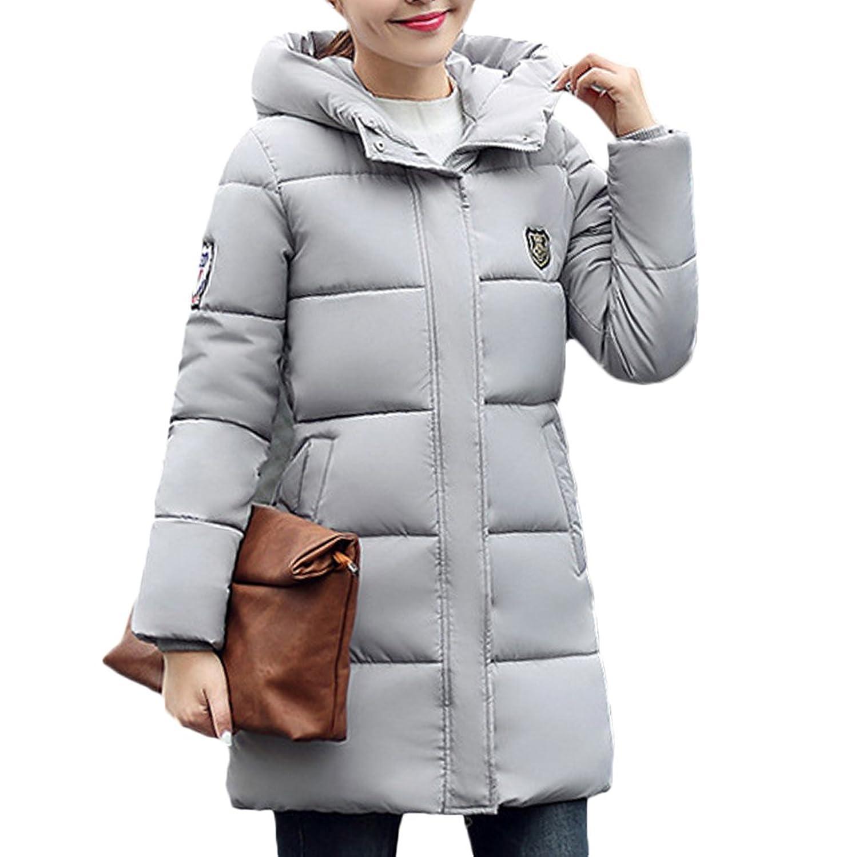 [美しいです] レディース コート ダウンコート 綿入りのコート 防寒 防風 ハーフ丈 フード付き カジュアル 保温性 軽量 冬服