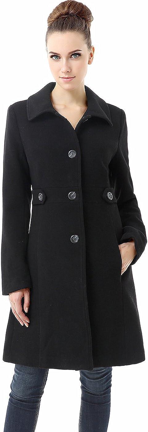 BGSD Women's Heather Wool Blend Walking Coat (Regular, Plus Size & Short)