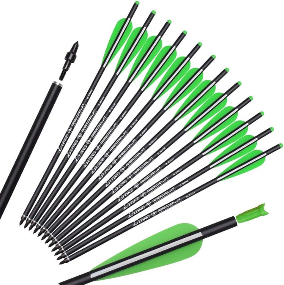 "Yls Crossbow Bolts Carbon Shafts 16 New color Green 18 Over item handling ☆ 22 20 4""V inch"
