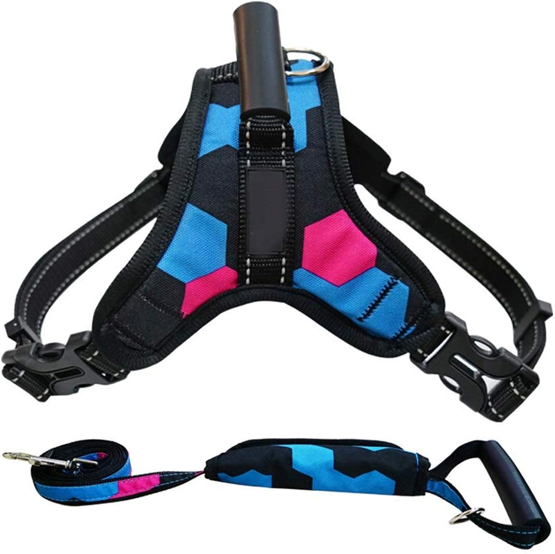 DSADDSD Pet Leash Dog Leash Dog Chain Pet Supplies Dog Rope Dog Vest Small Medium And Large Dog Vest (color   2 , Size   Xl)