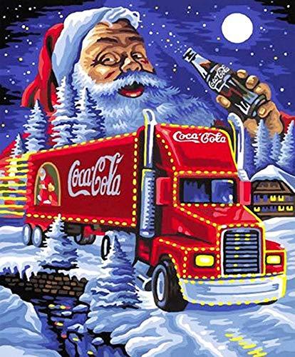5D Diamond Painting DIY Full Drill Rhinestones, ABEUTY Santa Claus Drinks Truck Moon, Paint with Diamonds Crystal Diamond Art Kits (Truck)