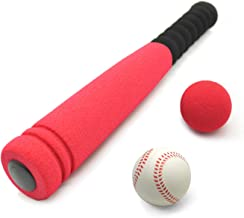 CeleMoon [Mini Size] Super Safe Kids Foam 16.5 inch Baseball Bat Toys with 2 Balls for Children Age 1 2 3 yrs Old, Portable Carrying Bag Included, Red