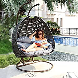 Island Gale Luxury Wicker Swing Chair