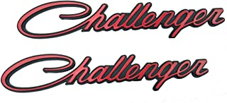 Yuauto Challenger Nameplate Emblems, 3D Badges Decal for Dodge Chrysler Mopar Challenger (Red)