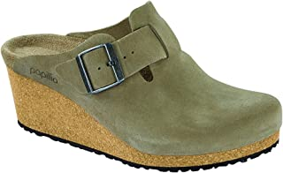 New Papillio Women's Fanny Wedge Clog Taupe Suede 41 N