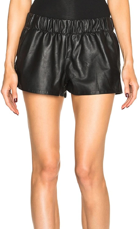 Rag & Bone Black Leather Pajama Shorts
