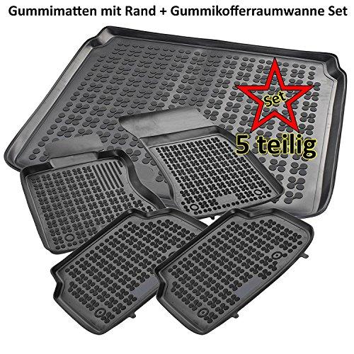 PREMIUM Gummi-Kofferraumwanne mit Antirutsch 3D TPE für Hyundai Tucson 2004-2010