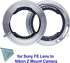 TECHART TZE-01 Camera Lens Adapter, Auto-Focus Adapter Ring Compatible for Sony FE Tamron Sigma F Mount Lens to Nikon Z6 Z7 Z Mount Camera