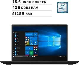 2019 Lenovo IdeaPad S340 15.6 Inch Laptop (Intel Quad-Core i5-8265U up to 3.9GHz, Intel UHD Graphics 620, 4GB DDR4 RAM, 512GB M.2 SSD, WiFi, Bluetooth, HDMI, Windows 10) (Black)