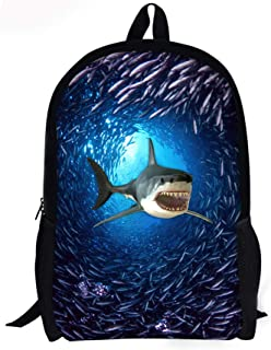 Pensura 3D Animal Printed School Backpack Skull Pattern Book Bag for Students